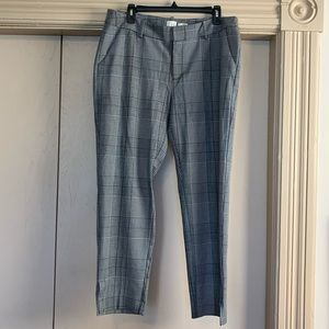 A New Day Gray Plaid Skinny Fit Trousers